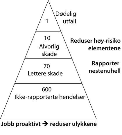 Risikopyramide, illustrasjon